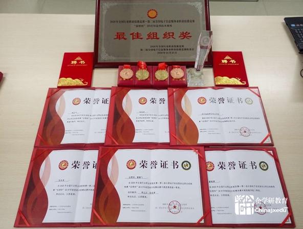盱眙技师学院在2020年一带一路暨金砖国家技能发展与技术创新大赛中斩获多枚奖牌